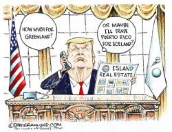 Trump wants Greenland by Dave Granlund