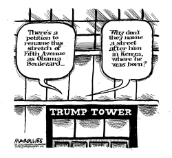 Trump Tower street renaming petition by Jimmy Margulies