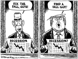 Obama and Trump Recession Strategies by Kevin Siers