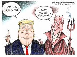 Trump Chosen One by Dave Granlund