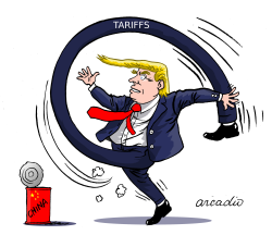 Trump tariffs China by Arcadio Esquivel