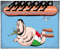 Salvini and the Migrants by Osmani Simanca