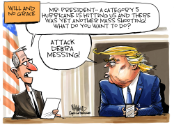 Trump attacks actress Debra Messing by Dave Whamond