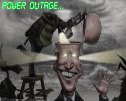 Joe Biden Power Outage by Sean Delonas