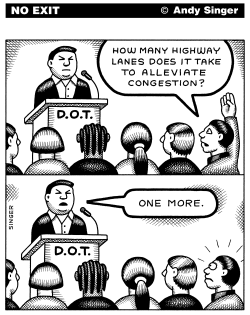 How Many Highway Lanes Does It Take by Andy Singer