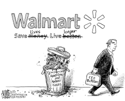 Walmart CEO by Adam Zyglis