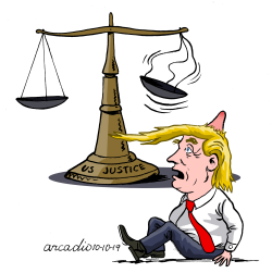 Justice hit Trump. by Arcadio Esquivel