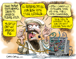 Taliban Switchboard by Daryl Cagle