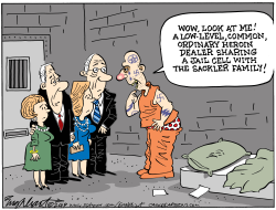 Sackler Family by Bob Englehart