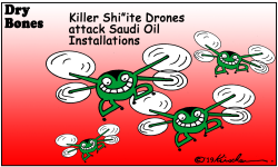 Killer Drones attack Saudi Oil Facilities by Yaakov Kirschen