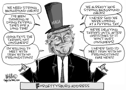 Trump Forgettysburg Address by Dave Whamond