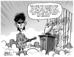 RIP Ric Ocasek of The Cars by Dave Whamond