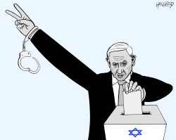 Netanyahu victory or charge by Rainer Hachfeld