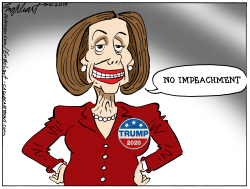 Nancy Pelosi by Bob Englehart