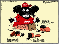Republican Black Face by Bob Englehart