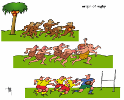 rugby by Arend Van Dam