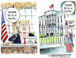 Trump asks favor of Ukraine by Dave Granlund