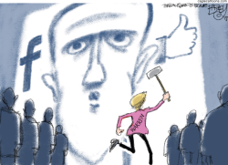 Zuckerberg Warren by Pat Bagley