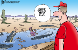 Trump and the border moat by Bruce Plante