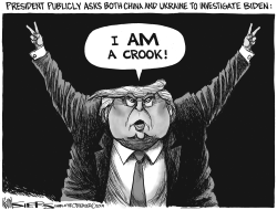 Trump His Own Whistleblower by Kevin Siers