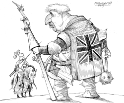 Noun Boris Johnson against EU by Petar Pismestrovic