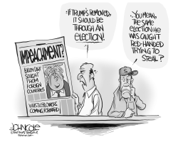Impeachment or election by John Cole