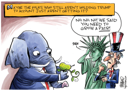 GOP standing up to Trump by Dave Whamond
