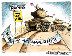 Trump and Syria pullout by Dave Granlund