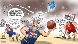 Basketball in China by Paresh Nath