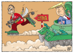 Erdogan In Syria by Nikola Listes