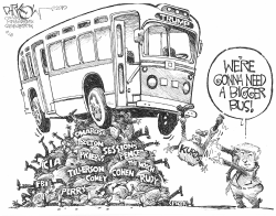 Thrown Under the Bus by John Darkow