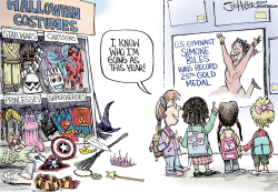 Simone Biles by Joe Heller
