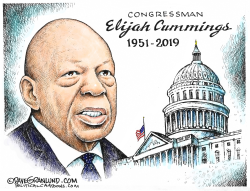 Rep Elijah Cummings Tribute by Dave Granlund