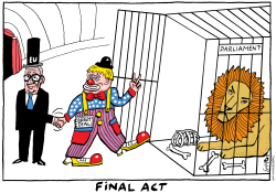 Final act Brexit circus by Schot