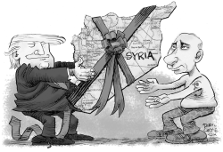 Trump Hands Syria to Putin by Daryl Cagle