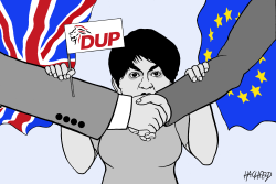 Arlene Foster against deal by Rainer Hachfeld