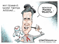 Mitt Romney secret Twitter account by Dave Granlund