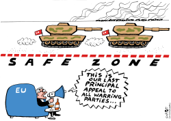 Safe zone Syria Europe's position by Schot