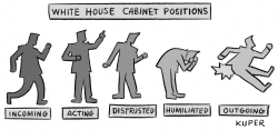 White House Cabinet Stages by Peter Kuper