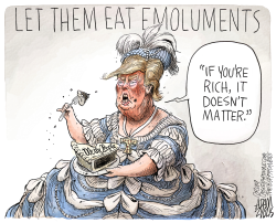 Emoluments clause by Adam Zyglis