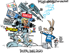 Digital Duel 2020 by David Fitzsimmons