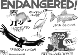 Endangered species by Pat Bagley
