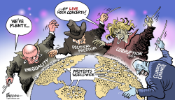 Global protests by Paresh Nath