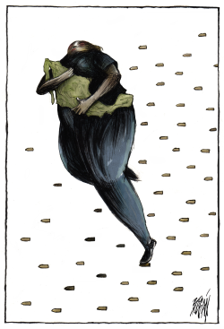 Mexico with bullets by Angel Boligan