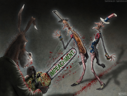 Democrats Impeachment Chainsaw by Sean Delonas