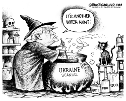 Trump Ukraine witch hunt by Dave Granlund