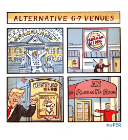 Alternative G7 Venues by Peter Kuper
