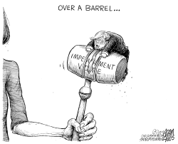 Pelosi's gavel by Adam Zyglis