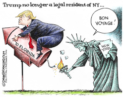 Trump NY to Florida move by Dave Granlund