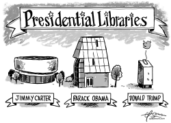 Presidential Library by Guy Parsons